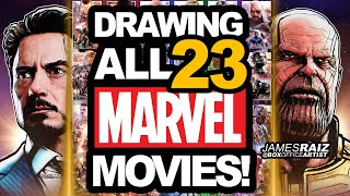 300+ HOURS to draw ALL 23 MARVEL INFINITY SAGA MOVIES!