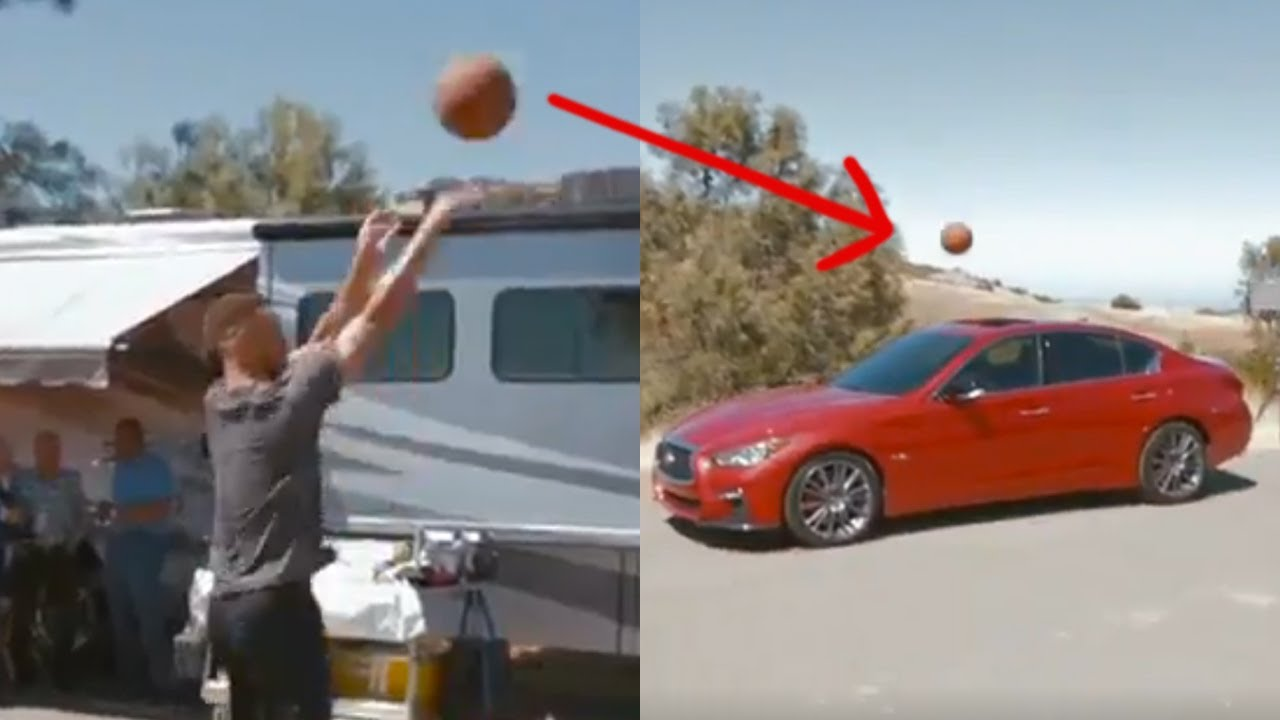 Steph Curry DRAINS 3-Point Shot into the Sunroof of an Infiniti