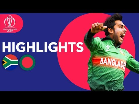 [VIDEO] Highlights: South Africa vs Bangladesh Cricket World Cup 2019