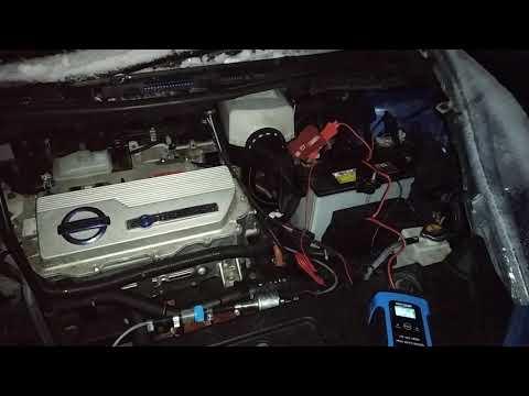 Nissan Leaf. Зарядка для 12в аккума