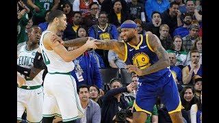 DeMarcus Cousins Shoves Jayson Tatum, Gets Chippy With Celtics