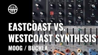 Eastcoast vs. Westcoast Synthesis   Moog Grandmother   Buchla Easel Command   Thomann