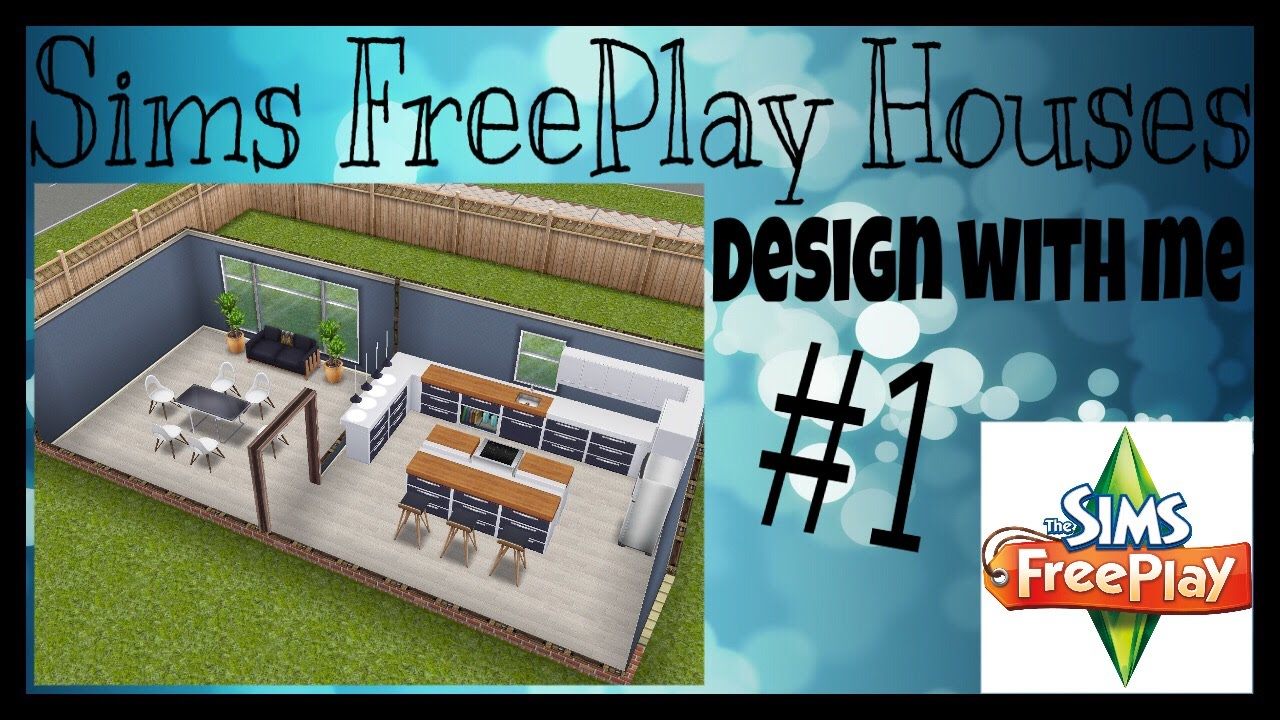 KITCHEN & DINING 1 | Sims FreePlay Design With Me #1 - YouTube