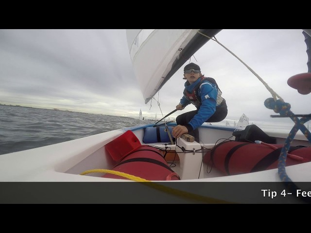 How to tack an Opti - Light Breeze Tacking with Fletch
