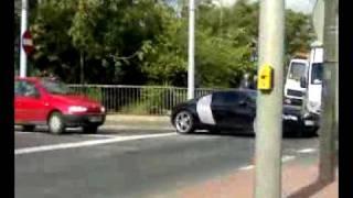 Audi R8 crash - stłuczka w Poznaniu.