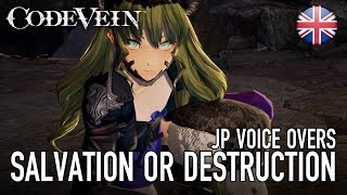 Code Vein - PS4/XB1/PC - Salvation or destruction (Japanese voice over story trailer)
