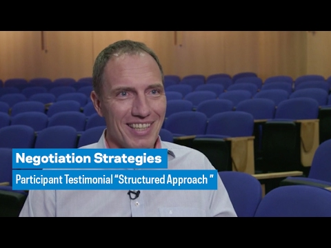 """Negotiation Strategies: Participant Testimonial """"Structured Approach"""""""