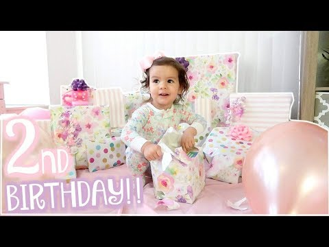 BIRTHDAY MORNING OPENING PRESENTS! AMELIE'S 2ND BIRTHDAY SPECIAL