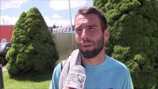 Václav Šafránek po výhře ve čtvrtfinále na turnaji Futures v Ústí n. O.