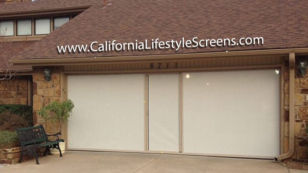 Retractable garage door - Garage Door Screen Retractable Affordable Quality Lifestyle Screen