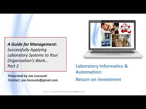 Part 2 Successfully Applying Laboratory Systems to Your Organization's Work