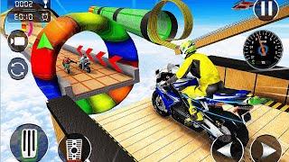 Mega Ramp Bike Jump Impossible Stunt Bike Games 3D - Crazy Motor Bike Stunt - Android GamePlay
