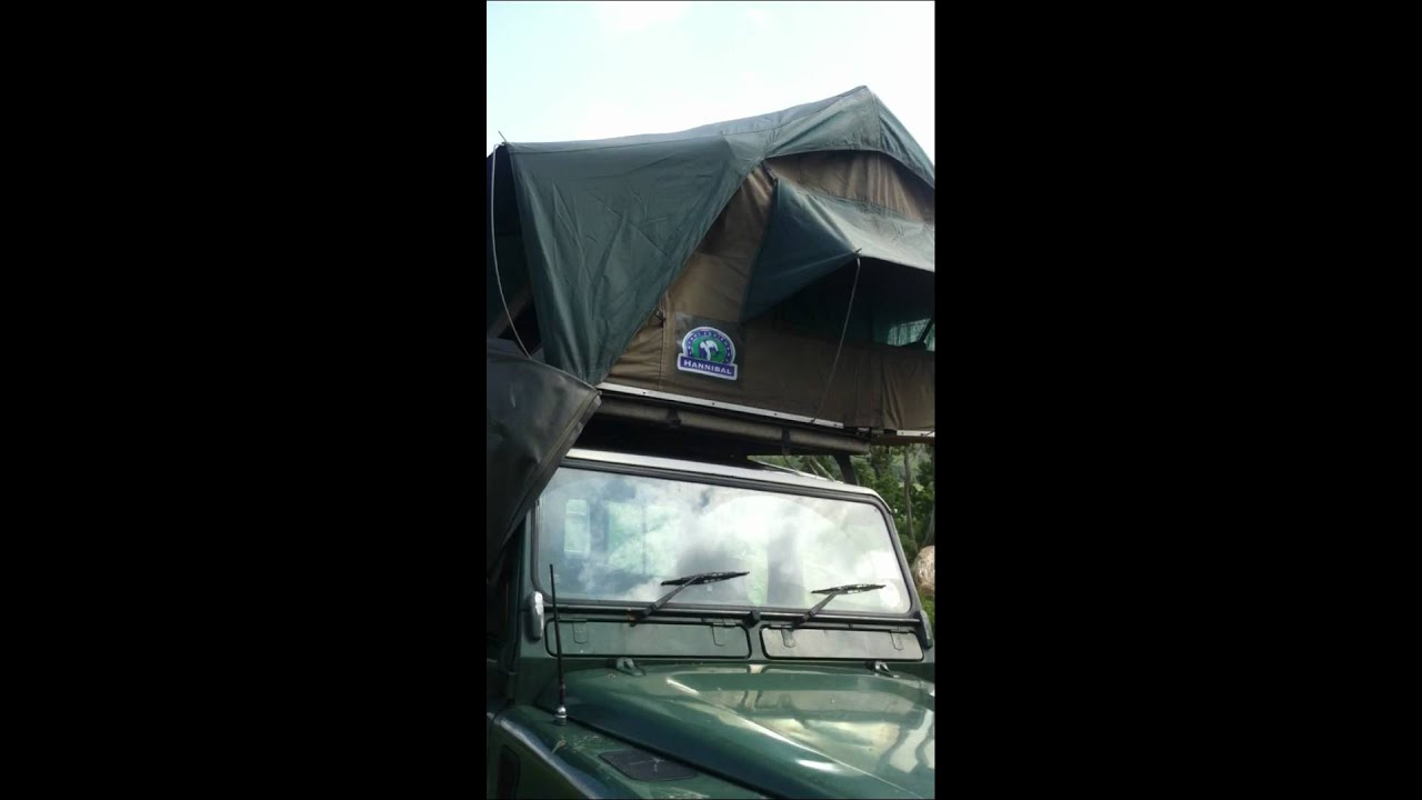 View of all sides of Hannibal Roof Top Tent in high wind & View of all sides of Hannibal Roof Top Tent in high wind - YouTube
