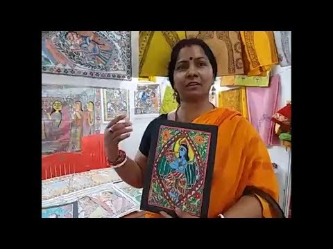 Sadhana Devi showcased her artistic talents in Religeous Mithila Paintings
