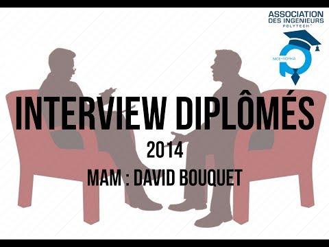 Interview diplômé 2014 - MAM : David Bouquet