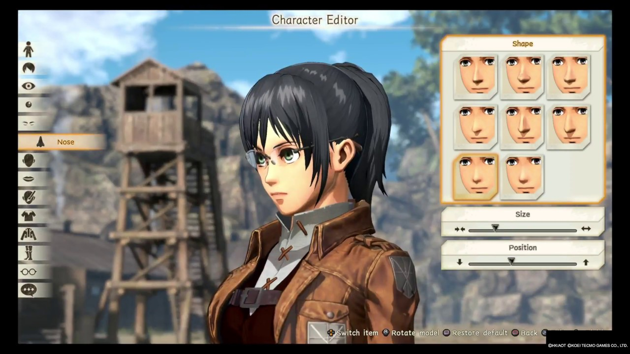 Attack On Titan 2 : Female Character Creation Part 1 ...