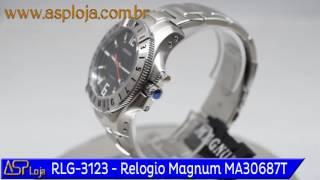 f206e7266a4 RLG 3123 Relogio de Pulso Magnum Masculino Analógico MA30687T Preto
