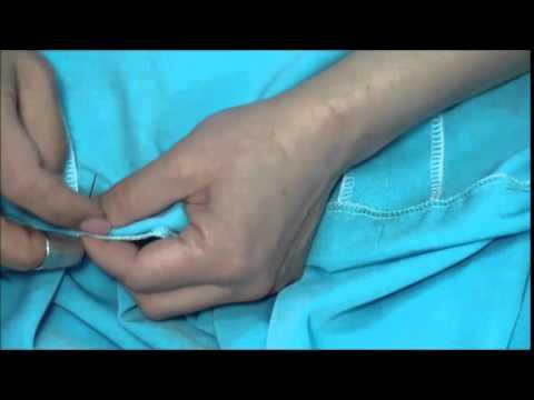 Как правильно подшить подол платья