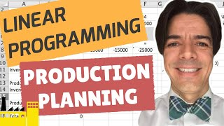 Linear Programming: Production Planning and Inventory Tracking with Excel Solver