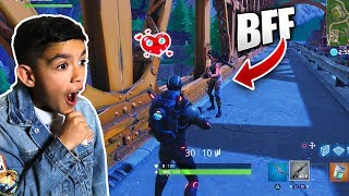 10 Year Old Little Brother Makes Friends In Fortnite Solos! (EMOTIONAL)