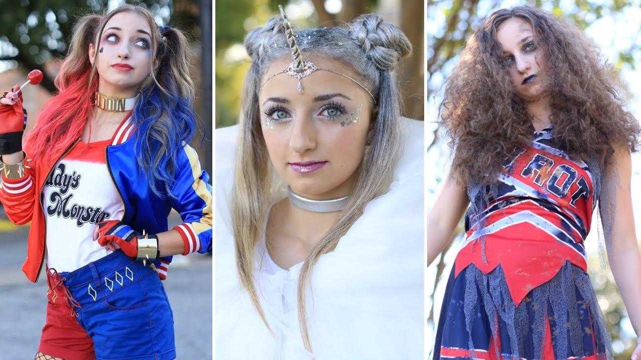 3 Easy HALLOWEEN Hairstyles