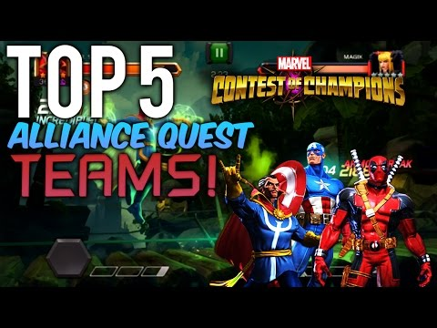 Marvel:Contest of Champions - Top 5 Alliance Quest (AQ) Teams in Marvel:Contest of Champions
