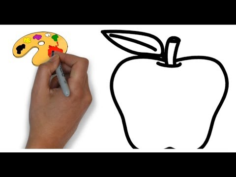 how-to-draw-apple-|-apple-coloring-pages-|-learn-color-with-apple-coloring-pages-|-kids-video