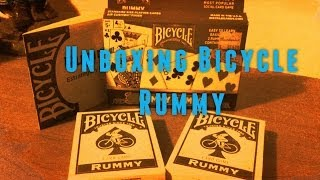 Unboxing cards Bicycle Rummy