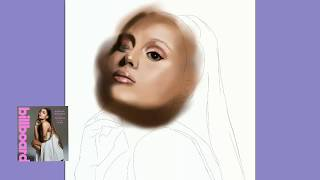 Drawing Ariana Grande (Billboard) #thankunext