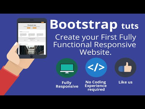 Bootstrap 3 tutorial -Create your first one-page responsive