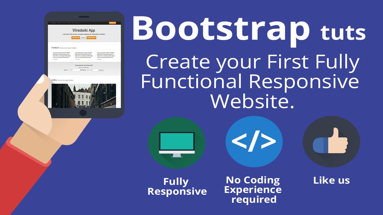 Bootstrap 3 tutorial -Create your first one-page responsive ...
