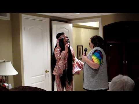 Liz & Chris as  Sonny (Chris)  and Cher (Liz)
