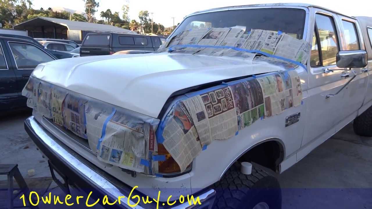 Spray Paint A Car Diy Aerosol Can Color Match Fail Touch Up Repaint Step 3 Youtube