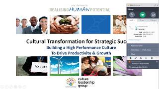 Cultural Transformation Workshop - Overview