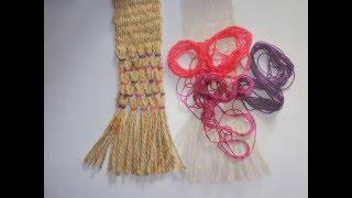 Декор пояса из джутовой нити