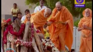 Pramukh Swami 's funeral takes place at BAPS Sarangpur campus in Gujarat