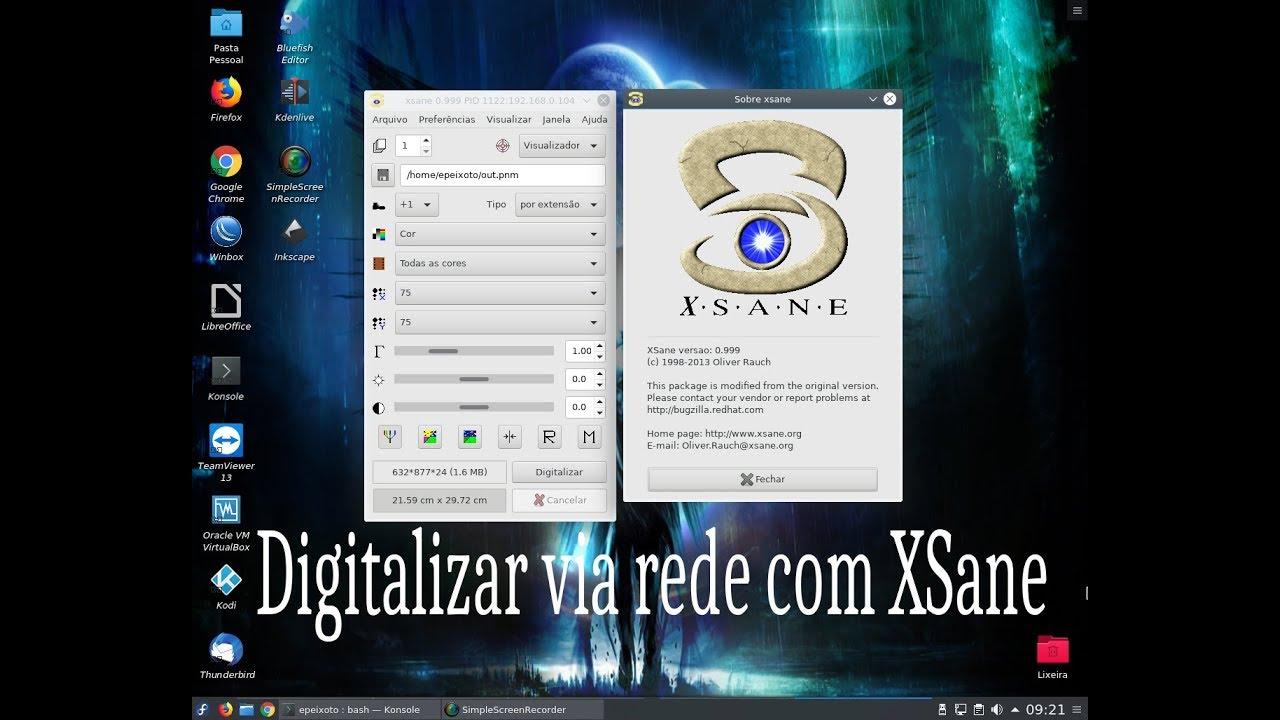 Digitalizar via rede no Linux com XSane