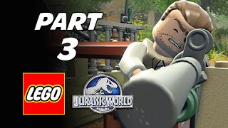 LEGO Jurassic World Walkthrough Part 3 - InGen Arrival (The Lost World Jurassic Park Storyline)