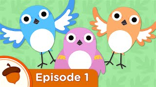 Hello Baby Sparrows | Treetop Family Ep.1 | Super Simple Songs