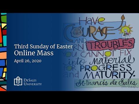 ✟ Sunday Online Mass, April 26, 2020 - DeSales University