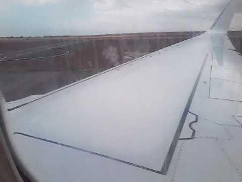 Décollage de Dakar ( AIBD ) avec Mauritania airline et un hublot sale