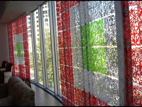 Декоративные панели Jilda в качестве штор и гардин