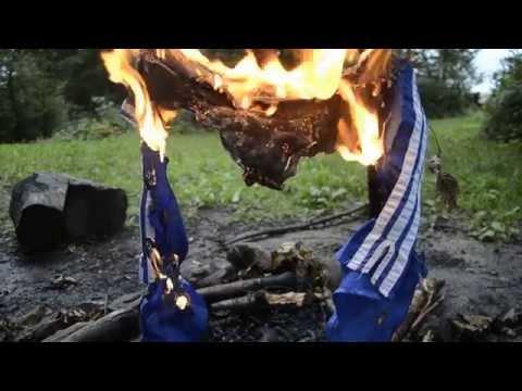 Adidas Nylon Shorts Chile from 1988 burning