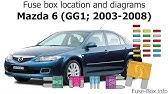 2005 Mazda 6 Fuse Box Location Youtube