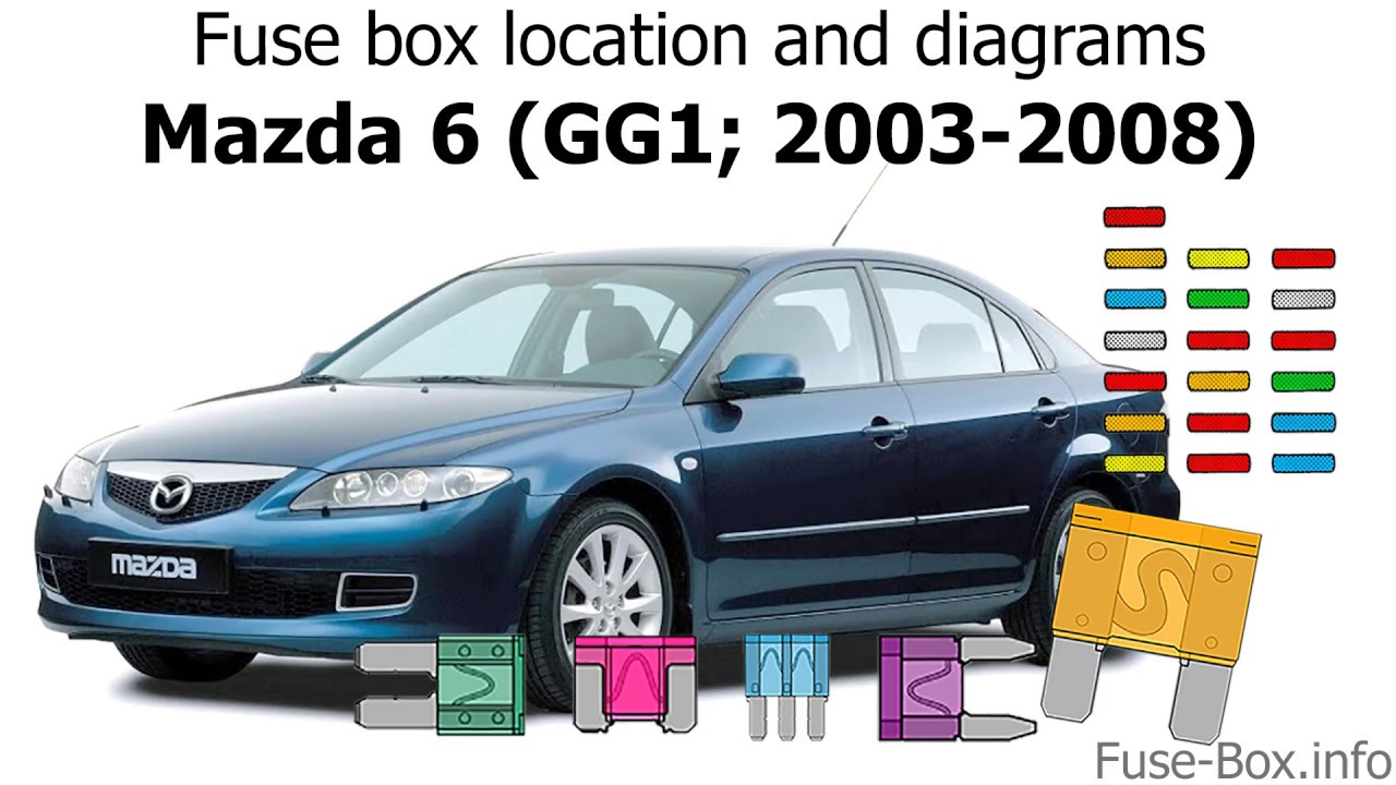 fuse box location and diagrams mazda 6 gg1 2003 2008  [ 1280 x 720 Pixel ]