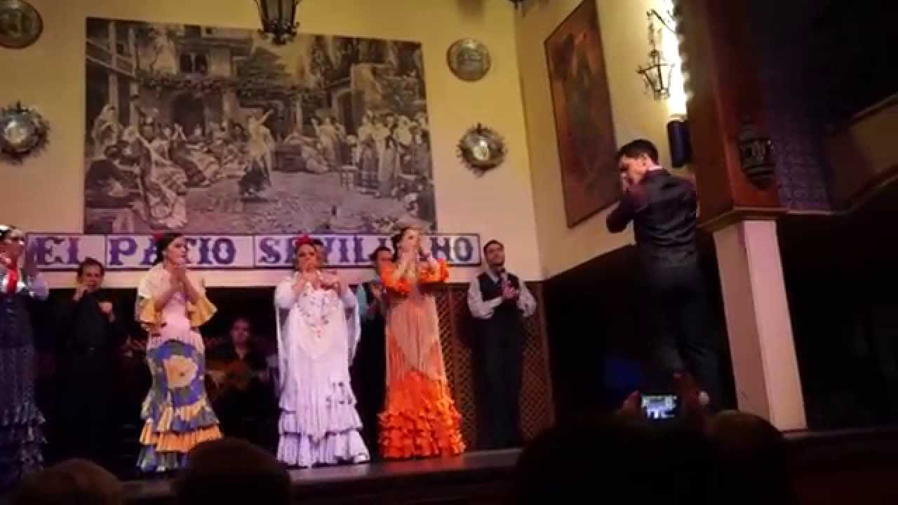 Flamenco Dance Performed By The Group El Patio Sevillano In
