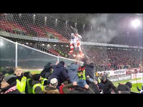 Zenit fan provokes Spartak supporters at their stadium 27.11.2017