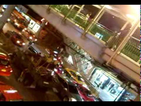 Thai army singing karaoke in Asok Bangkok
