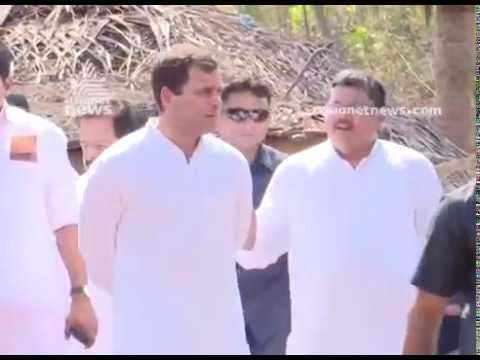 Rahul Gandhi visits the families of twin murder case in Kasargod
