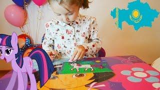 Моя маленкая пони. Рисование цветным песком, песочная анимация  My Little Pony